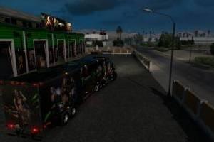 monster energy truck trailer garage