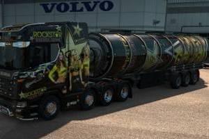 Cistern fuel trailer