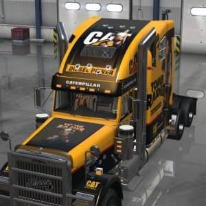 Freightliner Classic XL Joanie Brosas CAT skins add