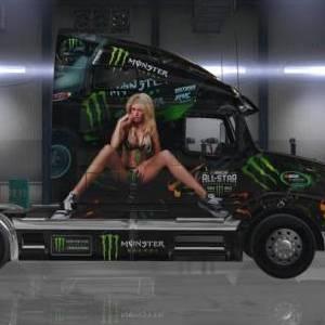 Volvo VNL 670 Monster Energy Drink Skin