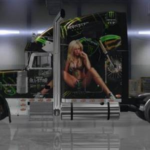Freightliner Classic XL Monster Energy Drink Skin