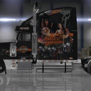 Freightliner Classic XL Harley Davidson Skin