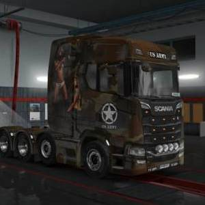 Scania S 8x4 Military Skins