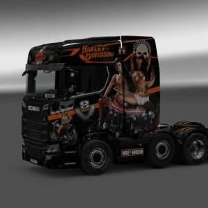 [1.33]Scania S Harley Davidson Skins