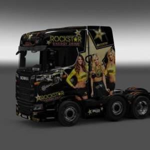 [1.33]Scania S Rockstar Energy Drink Skins